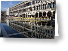 Venice Italy - St Mark's Square Symmetry Greeting Card