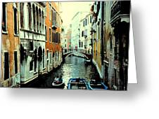 Venice Street Scene Greeting Card