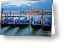Venice View To San Giorgio Maggiore Greeting Card