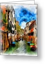 Venice Watercolor Greeting Card by Cary Shapiro