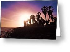 Ventura Beach Sunset Greeting Card