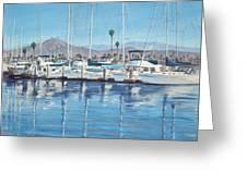 Ventura Harbor Morning Light Greeting Card