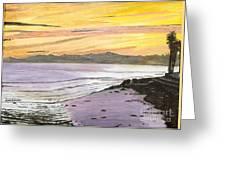 Ventura Point At Sunset Greeting Card