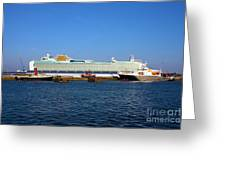 Ventura Sheildhall Calshot Spit And A Tug Greeting Card