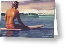 Ventura Surfer Girl Greeting Card