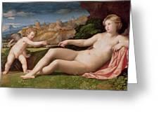 Venus And Cupid Greeting Card