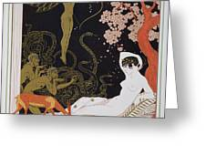 Venus Greeting Card by Georges Barbier