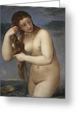 Venus Rising From The Sea Greeting Card