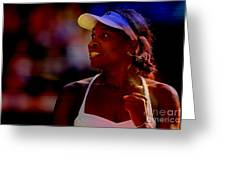 Venus Williams Greeting Card