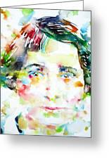 Vera Brittain - Watercolor Portrait Greeting Card