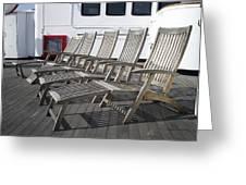 Verandah Seating 02 Queen Mary Ocean Liner Long Beach Ca Greeting Card