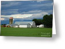 Verdant Farmland Greeting Card