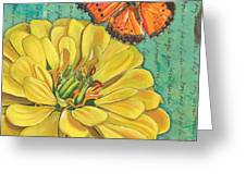 Verdigris Floral 2 Greeting Card