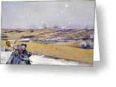 Verdun, 1916 Oil On Canvas Greeting Card