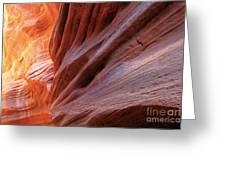 Vermilion Canyon Walls Greeting Card