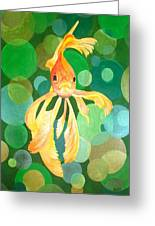 Vermilion Goldfish Greeting Card