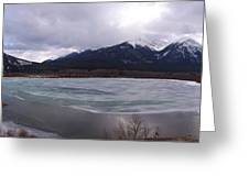 Vermillion Lakes, Banff National Park - Panorama Greeting Card