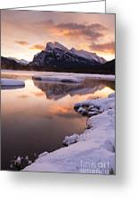 Vermillion Lakes In Banff National Park Greeting Card