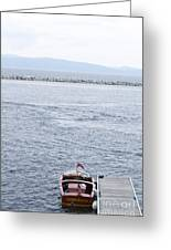 Vermont Boat Pier Greeting Card