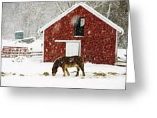 Vermont Christmas Eve Snowstorm Greeting Card