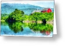 Vermont Farm Along The Connecticut River Greeting Card