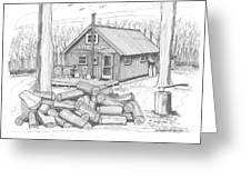 Vermont Hunter Lodge Greeting Card