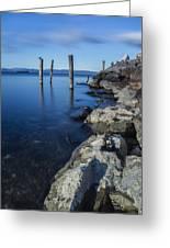 Vermont Lake Champlain Sunrise Burlington Greeting Card