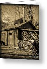 Vermont Maple Sugar Shack Circa 1954 Greeting Card