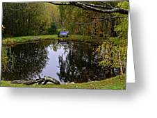 Vermont Pond In Autumn Greeting Card