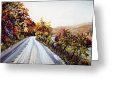 Vermont Road Greeting Card