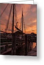 Vermont Sunrise Boats Pier Lake Champlain Greeting Card
