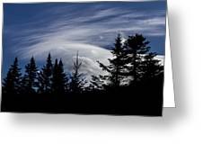 Vermont Tree Silhouette Clouds Cloudscape Greeting Card