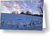 Vermont Winter Hill Greeting Card