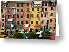 Vernazza Facades Greeting Card