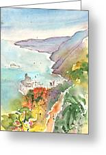 Vernazza In Italy 06 Greeting Card