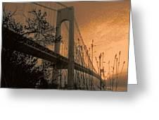 Verrazano Sundown Greeting Card