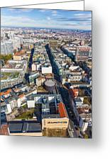 Vertical Aerial View Of Berlin Greeting Card