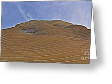 Vertical Dune - The Aqua Tower Greeting Card