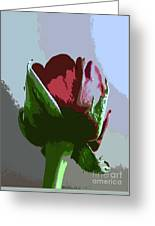 Vertical Rose Painting Style Greeting Card