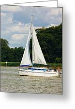 Vertical Sailboat Greeting Card