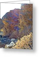Vertical View Of Big Painted Canyon Trail In Mecca Hills-ca Greeting Card