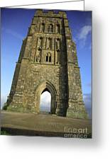 Vertical View Of Glastonbury Tor Greeting Card