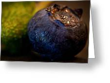 Very Blueberry Square Greeting Card