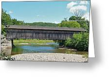 Very Long Covered Bridge Greeting Card