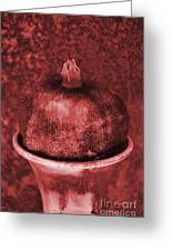 Very Red Pomegranate Greeting Card