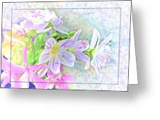 Very Tiny Wildflower Boquet Digital Paint Greeting Card