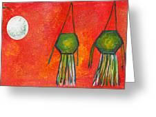 Vesak Lanterns Greeting Card
