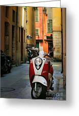 Nicoise Scooter Greeting Card