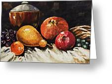 Vessel And Fruit Greeting Card