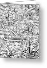 Vessels Of Early Spanish Navigators From The Narrative And Critical History Of American Greeting Card